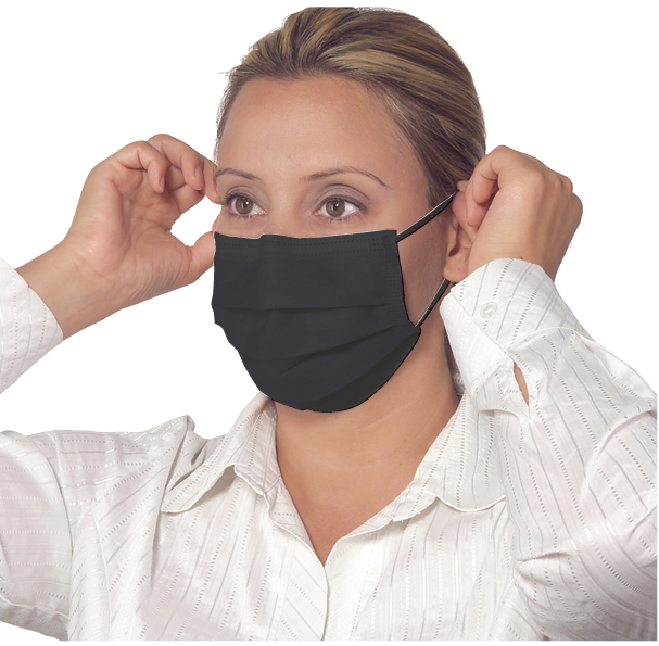 Артикул 2114. Маска черная процедурная с петлями для ушей Safe+Mask® Premier Standard