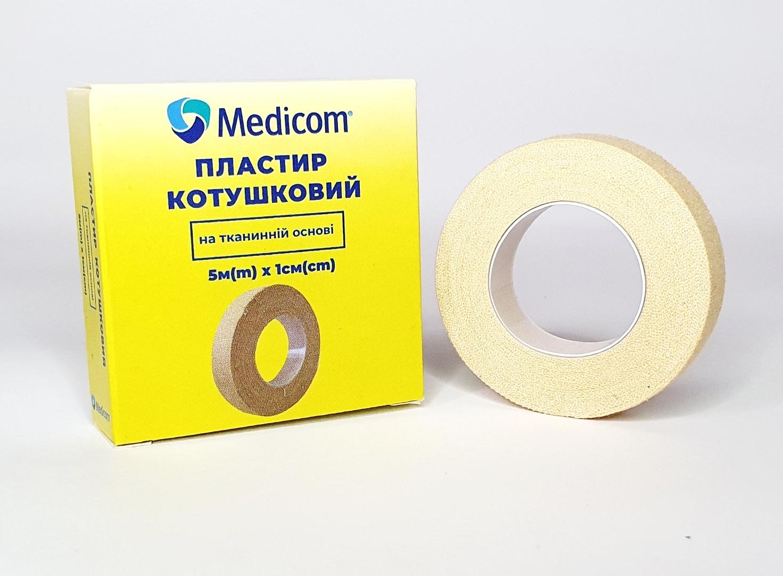 Артикул 3151mc. Пластырь медицинский катушечный MEDICOM® на тканевой основе, 5м*1см