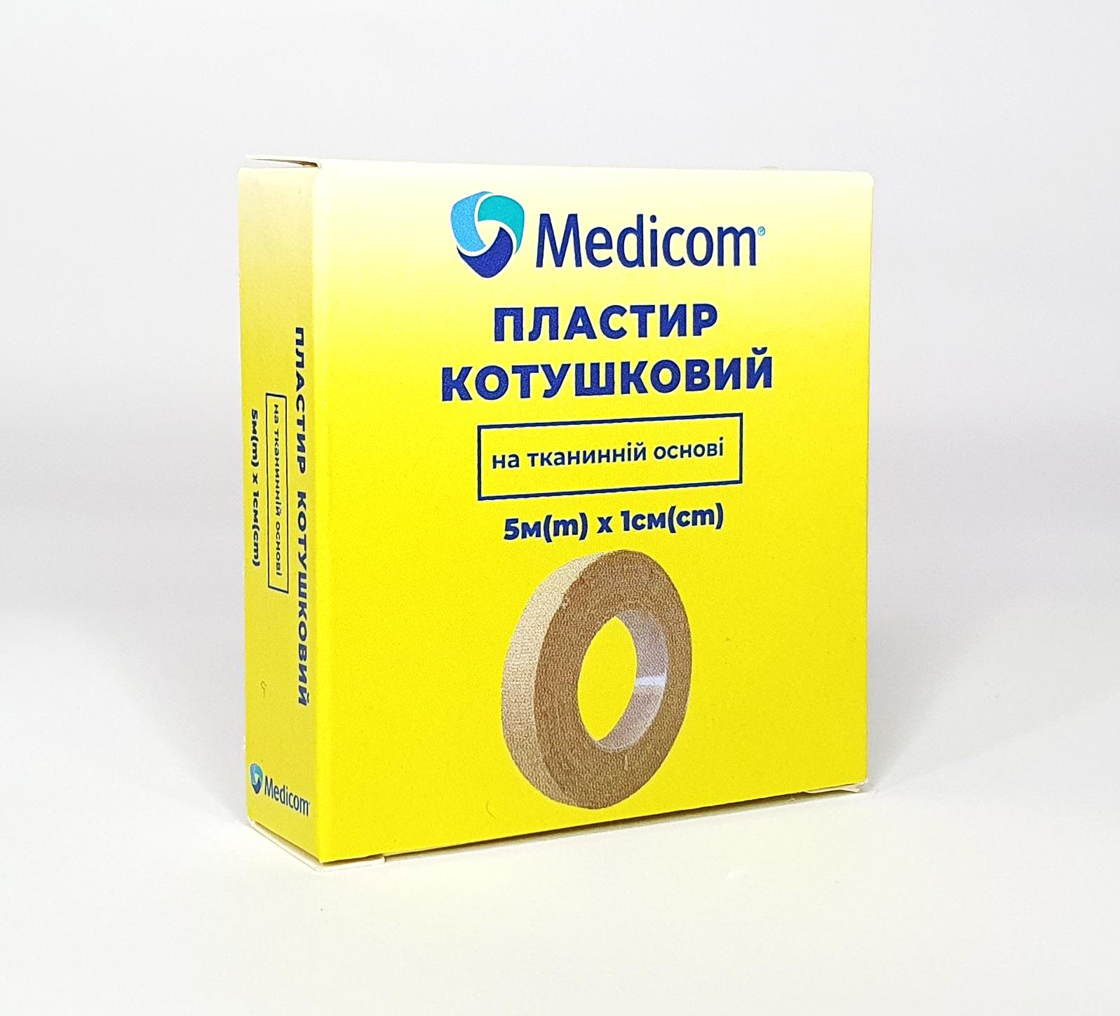 Артикул 3151mc. Пластир медичний котушковий MEDICOM® на тканинній основі,  5м*1см