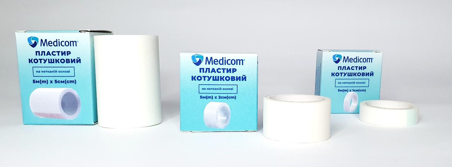 Артикул 3451mc. Пластырь медицинский катушечный MEDICOM® на нетканой основе, 5м*1см