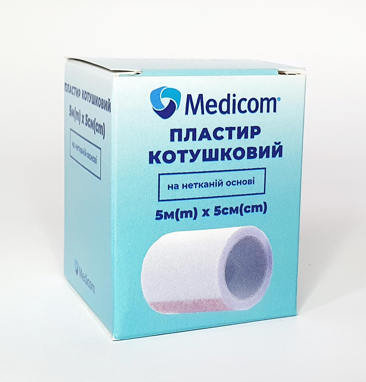 Артикул 3455mc. Пластир медичний котушковий MEDICOM® на нетканій основі, 5м*5см