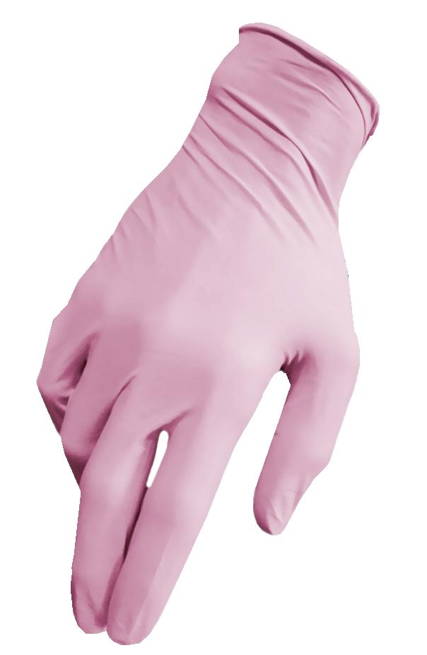 Артикул 1172. Нитриловые розовые перчатки SafeTouch® Extend Pink без пудры