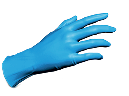 Артикул 1175TG (1175TG-2). Нитриловые перчатки SafeTouch® Advanced Slim Blue без пудры
