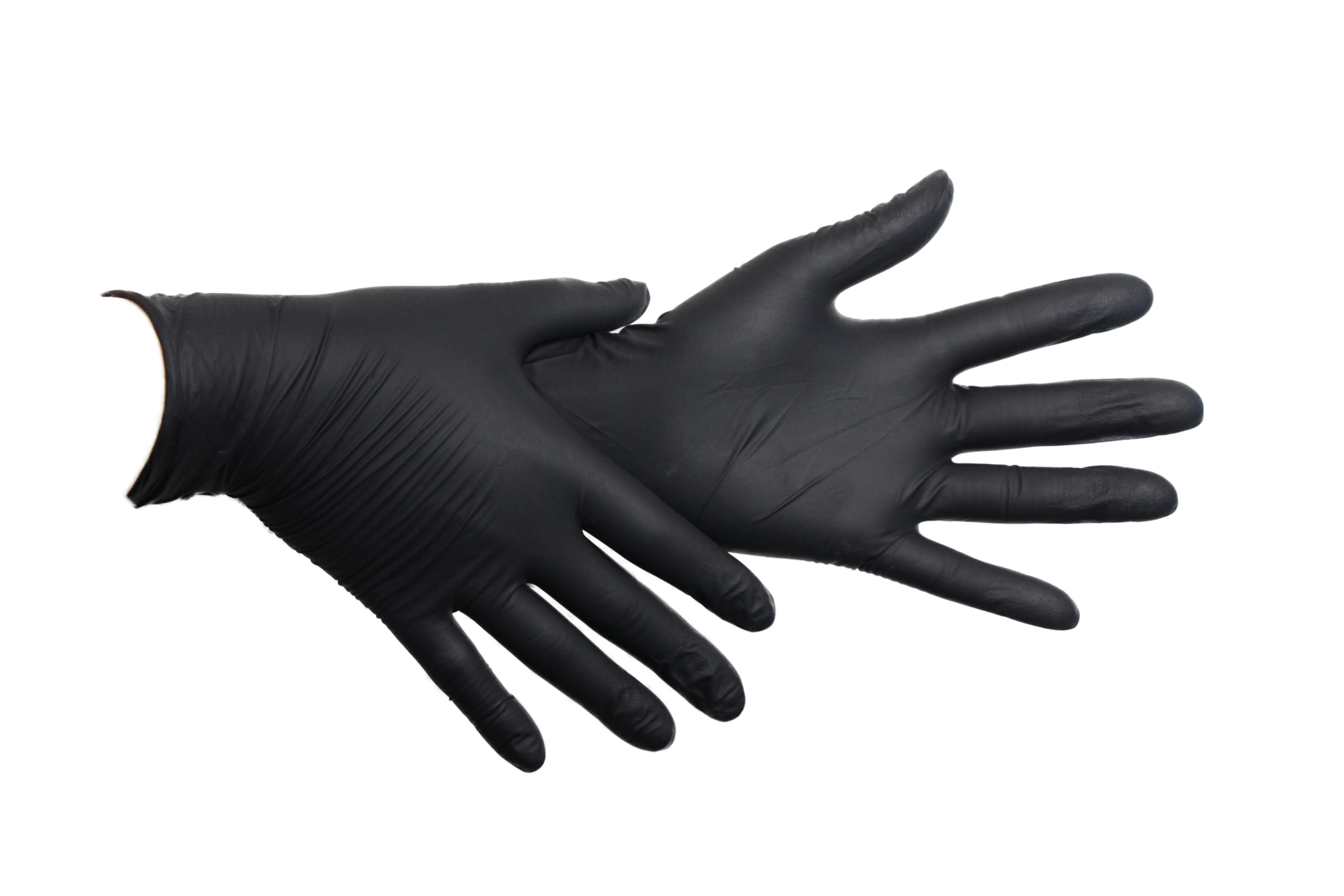 Артикул 1187 (1187TG). Нитриловые черные перчатки SafeTouch® Advanced Black