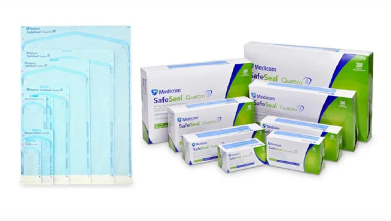 Стерилізаційні пакети SafeSeal Quattro MEDICOM